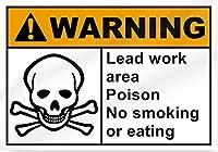 家の家のコーヒービールドリンクバーの装飾、リードワークエリアポイズン禁煙または食事、金属のポスタープラークの警告サイン鉄の絵画アート装飾バーカフェガーデンベッドルームオフィスホテル