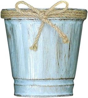 Scpink ¡Oferta de liquidación! Maceta, Barril de metal de hierro vintage Maceta colgante Balcón Planta de jardín Maceta Decoración Olla (Multicolor)