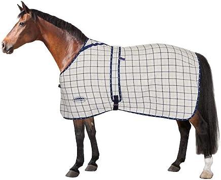 WEATHERBEETA Summer Sheet LITE Combo Neck II White/Navy/RED 6'3 Horse Rug
