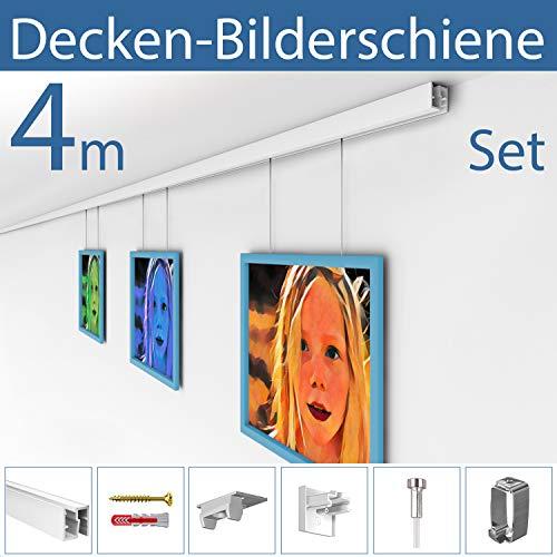 Strüßmann Decken Bilderschienen Set | D200 | 4 Meter Komplett Set