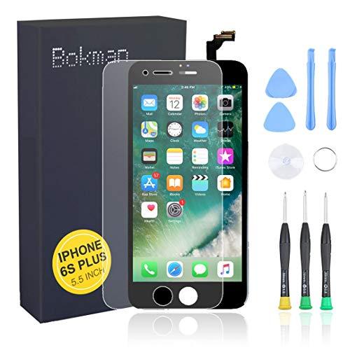 bokman voor iPhone 6s Plus Scherm LCD Touchscreen Display Montage voorpaneel met benodigde gereedschapsset, Zwart