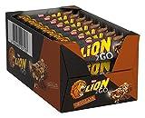 Nestlé LION 2GO Chocolate, Schokoriegel mit Erdnüssen, Rosinen & Schokoladenstückchen, Karamell,...