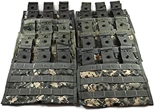 Triple Magazine Pouch ACU Camouflage, Pack of 10 Military Surplus MOLLE Pouches