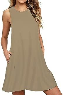 KPSLSD Kids Girls Sleeveless Pockets Swing Winter Summer Dress