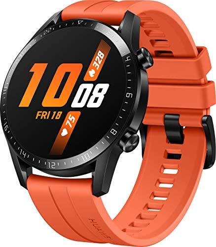 HUAWEI Watch GT 2 Smartwatch (46mm, OLED Touch-Display, Fitness Uhr mit Herzfrequenz-Messung, Musik Wiedergabe & Bluetooth Telefonie, 5ATM wasserdicht) sunset orange - 3
