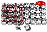 HENTEK 34 Piezas Tapas de válvula de Aluminio Tapas Antipolvo Neumático de...