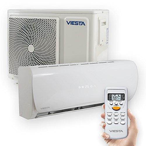 VIESTA Aire Acondicionado Split AC18 - Eficiencia energética - Temporizador - Función deshumidificador - Silencioso (42~46dB) - 18000 BTU para Espacios de hasta 64 m² - Color Blanco