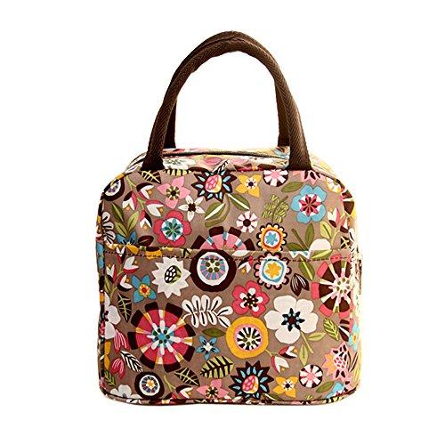 Atcool Lunch Tasche, Isoliertasche Kühltasche Lunch Bag Picknicktasche Mittagessen Tasche, Kinder Erwachsener Auslaufsichere wasserdichte Lunchtasche für Arbeit Schule (32×22×10cm, Khaki)
