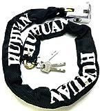 TriEcoWorld Chaîne de sécurité antivol résistante avec cadenas pour vélo et moto, 2 m