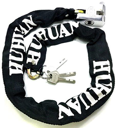 TriEcoWorld HEAVY DUTY Motorcycle Motorbike Bike Bicycle Cycle Security Chain Lock PadLock Anti-Theft Chain Lock (1 Metre)