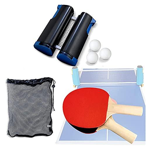 Professionele Ping Pong Paddle Set Met Intrekbare Net (Beugelklemmen), Posten Home Indoor of Outdoor Play, Storage Case…