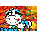 puzzles De Madera Doraemon 1000 Piezas Juguetes Educativos De Dibujos Animados Doraemon para Adultos Y Niños Regalos De Cumpleaños(Color:UNA)