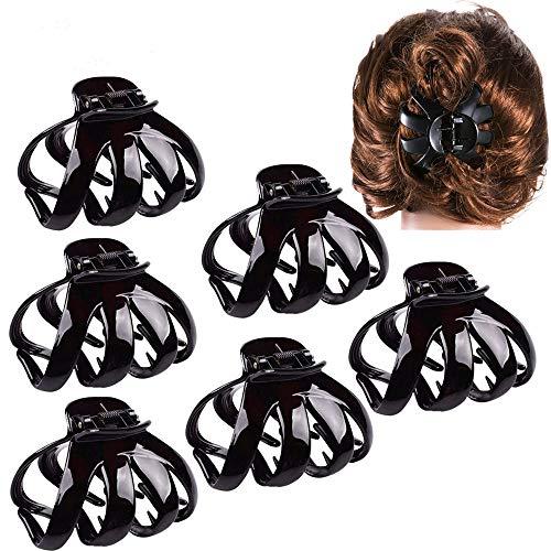 TOKERD 6 Stück Große Haarkrallen Damen Haarklammer für Dickes Haar, Rutschfeste Octopus Haarkrallen Hair Clip Claw für Frauen Dickes Haar
