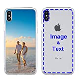 MXCUSTOM Custom Apple iPhone Xs Max Case, Customized Personalized with Photo Image Text Picture Design Make Your Own Phone Cases Covers [Clear Soft TPU Bumper + Hard PC Back] (CHT-CR-P1)