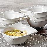 vancasso Lolita Set 6 Pezzi Servizio Ciotole Porcellana Set di Ciotole per Cereali Ceramic...