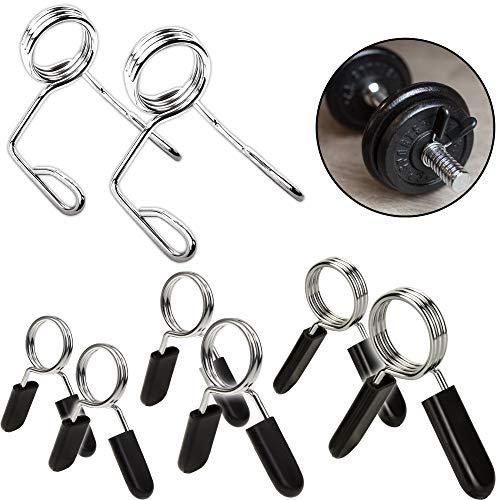 C.P. Sports - Par de cierres de muelle para barras de pesas, 25 mm, 28 mm, 30 mm, 50 mm de diámetro, Muelle de 28 mm., 5 Paar - 10 Stk. 🔥