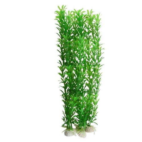 sourcing map 3-teiliges künstliches Aquarium Rotala Rotundifolia Pflanzenset, grün