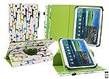 emartbuy Medion LifeTab P9701 9.7 Zoll Tablet PC Universal (9-10 Zoll) Mehrfarbig Giraffe 360GradRotierendeStandFolioGeldbörseTascheHülle + Eingabestift
