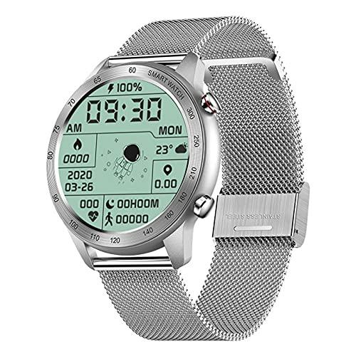 ZGNB MX5 Smart Watch, Chiamata Bluetooth, Riproduzione Musicale MTE, IP68 Impermeabile, Monitor per La Pressione Sanguigna, Fai da Te Smartwatch PK TK88 per Android iOS,E