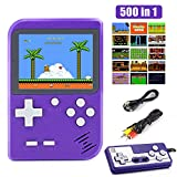 Diswoe 500 in 1 Handheld Game Console, Retro Mini Game Machine, Support Play on TV and Two players, 800mAh Rechargeable Battery, Present for Kids and Adults