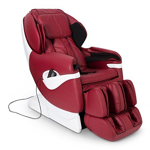 SAMSARA® Sillon de masaje 2D - Rojo (modelo 2020) - Sofa masajeador electrico de relax con shiatsu - Silla butaca con presoterapia, gravedad cero, calor y USB - Garantía 2 Años