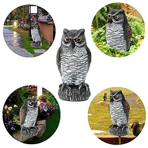 NgMik Gartenhaus Ornament Gefälschte Standing Eulen-Vogel-Dekoration Jagd Schießen Decoy Abschreckungs Repeller Garden Scarer Zubehör für die Inneneinrichtung im Freien (Color : 1, Size : One Size)