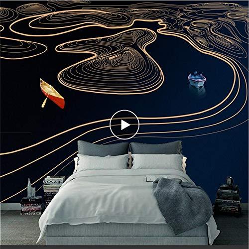 Cczxfcc 3D-behang, personaliseerbaar, abstracte lijnen, Rio, behang, modern, 3D, voor woonkamer, tv-achtergrond, restaurant 140 x 100 cm