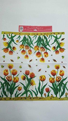 Tovagliolo in carta di riso 50×50 cm 14g Decoupage DFT051 Fiori
