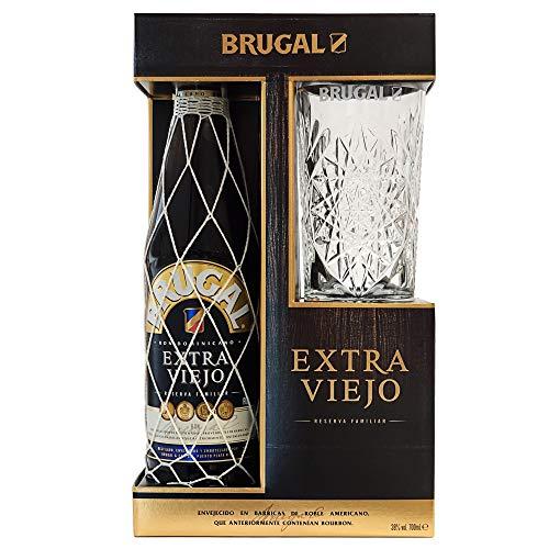 Brugal Extra Viejo 8 años 38% + Estuche Vaso - 700 ml