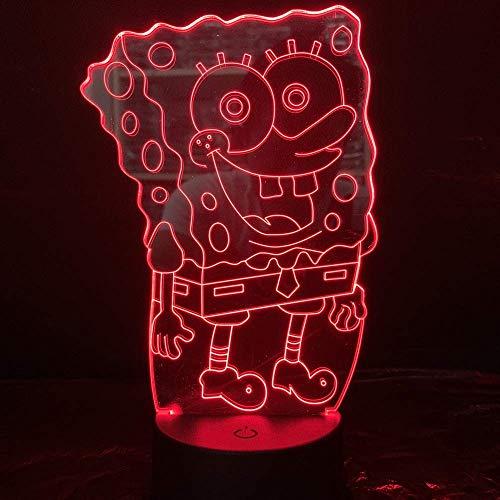 Spongebob Schwammkopf Nachtlicht Led 3D Illusion Zimmer Dekorative Lampe Kind Kinder Baby Nachtlicht Cartoon Tischlampe Schlafzimmer