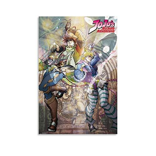 HUAIREN Póster de anime Jojo's Bizarre Adventure José y Caesar, decoración de pared para sala de estar, 40 x 60 cm