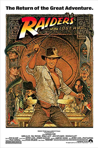 """Price comparison product image Indiana Jones - Raiders Of The Lost Ark - Movie Poster (1982 Re-Release) (Size: 24"""" x 36"""")"""