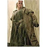 Hellboy Ron Perlman Standing Wearing Trench Coat In Rain Head Turned Looking Down 8 X 10 Inch Photo