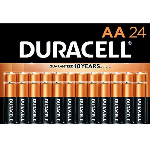 Duracell - CopperTop AA-Alkaline-Batterien – langlebig, Mehrzweck-Doppel-A-Batterie für Haushalt und Geschäft – 24 Stück.