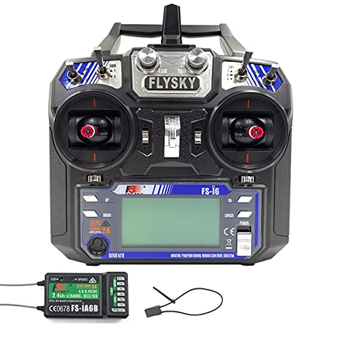Flysky FS-i6 6CH 2.4GHz AFHDS RC Transmitter w/FS-iA6B Receiver for RC Multirotor Helicopter...