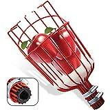 SANLIKE Fruit Picker Basket Head for Apple Avocado Lemon Peach Fruit Tree Grabber Tool Twist on Standard US (3/4inch Acme) Threaded Pole (Head Only) (red)
