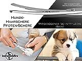 Hundehaarschere Fellschere GEBOGEN mit MIKROVERZAHNUNG - 2