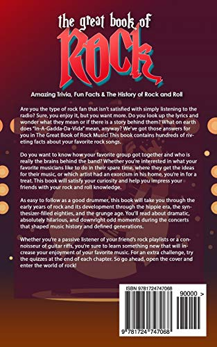 The Great Book of Rock Trivia: Amazing Trivia, Fun Facts