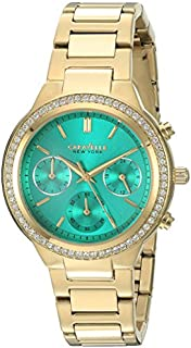 Caravelle New York Women's 44L215 Swarovski Crystal  Gold Tone Watch