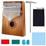 Nabance Kalimba 17 Clés Piano à pouce Professionnel De Haute Qualité Instrument de Musique avec Tuning Hammer et 7 Accessoires Cadeau Idéal pour Les Débutants