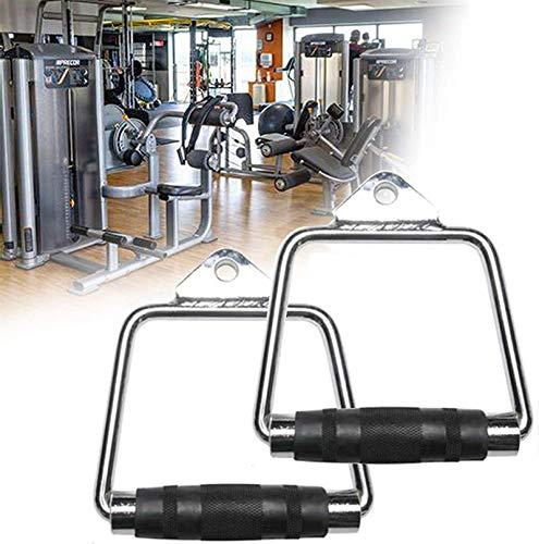 Equipo de polea con cable, Manija D de la aptitud multiuso, el accesorio de la máquina del cable del gimnasio para el hogar con la máquina antideslizante de goma para la máquina Smith, la madluga terr