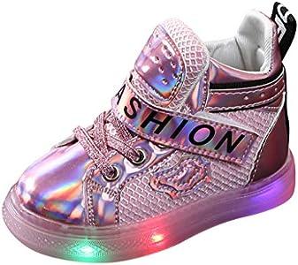 Botines Casuales Led NiñOs Y NiñAs Zapatillas Antideslizantes Zapatillas De Deporte Zapatos Luminosos Lentejuelas Zapatos Planos Halloween/Navidad/AñO Nuevo Regalo/Zapatos De Fiesta De CumpleañOs