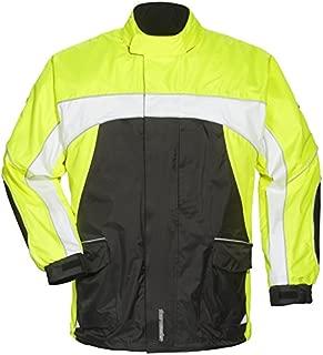 TOURMASTER ELITE 3 RAIN MOTORCYCLE JACKET BK/HV/WH SIZE:XXS