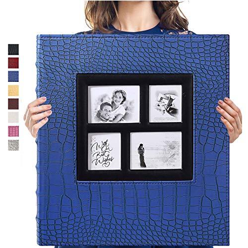 Vienrose Álbum de Fotos 10x15 600 Fotos Funda de Cuero Capacidad Extra Grande para Bodas Familiares Aniversario Vacaciones de Bebé (azul)