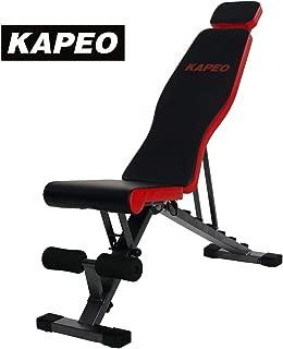 KAPEOトレーニングベンチ 腹筋 フォールディング フラットインクラインベンチ マルチポジション折り畳み ダンベルベンチ耐荷重400KG メーカー1年保証