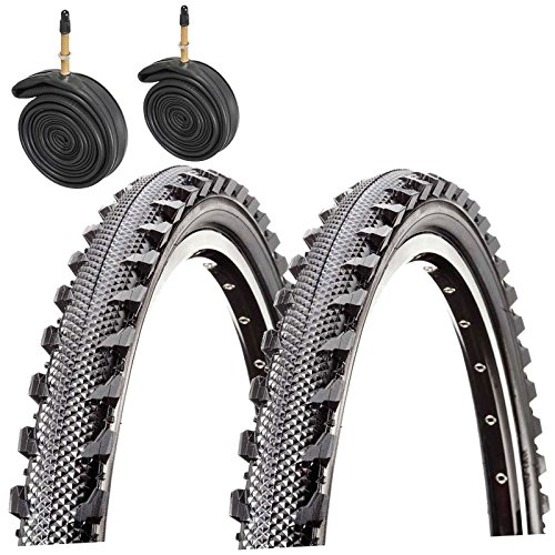 Raleigh CST T1303 Offroad 26' x 1.95 Mountain Bike Tyres with Presta Tubes (Pair)
