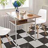 Cocina con mesa expandible, operadores de mariposa plegados, espacio deciduo de espacio pequeño, mesa plegable,Dark oak