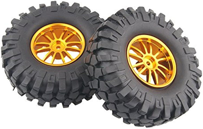 4x Aluminum Wheel Rubber Tires Sponge Rim RC Climbing Car Racing 123G-7006L