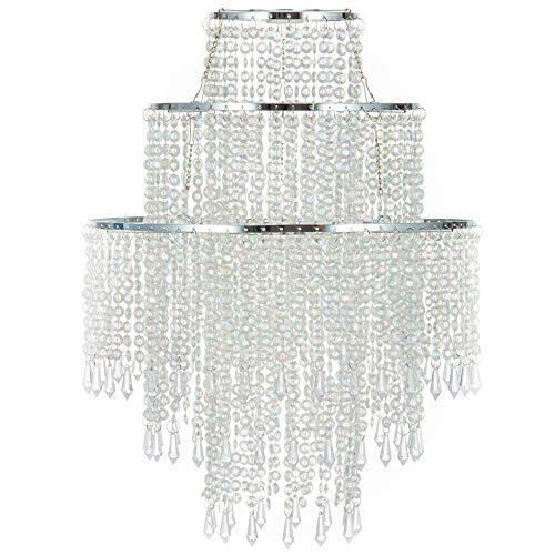 Waneway Acrylic Chandelier Shade, Ceiling Light Shade Beaded...
