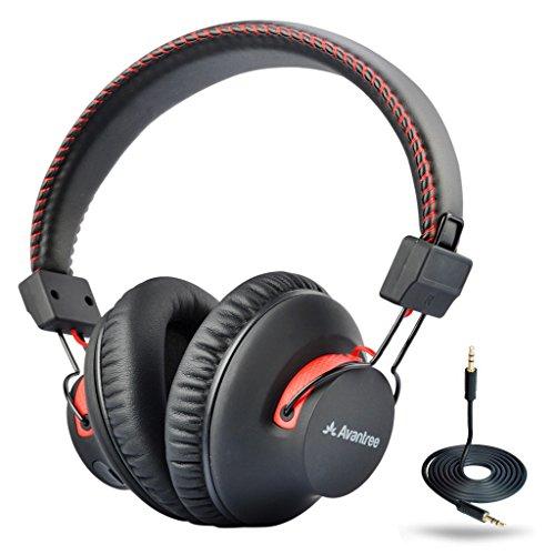 Avantree 40 Horas aptX Hi-Fi Auriculares Diadema Bluetooth Inalambricos para TV con micrófono, Over Ear Extra Cómodos y Ligeros, NFC, Inalámbrico con Cable Modo Dual - Audition [2 años de garantía]